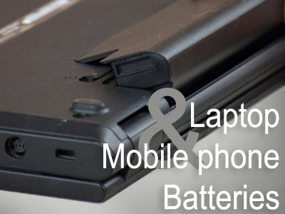 laptop and phones or just batteries